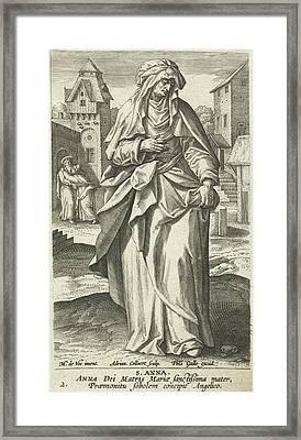 Saint Anna, Adriaen Collaert, Philips Galle Framed Print by Adriaen Collaert And Philips Galle And Cornelis Kiliaan