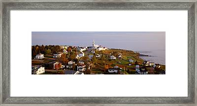 Saint Anne Des Monts, Gaspe Peninsula Framed Print