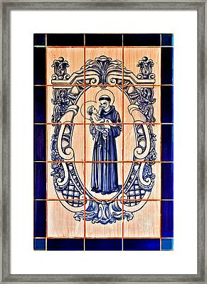 Saint Anthony Of Padua Framed Print by Christine Till