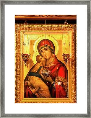 Saint Barbara, Saint Michael Cathedral Framed Print