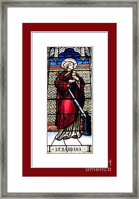 Saint Barbara Stained Glass Window Framed Print