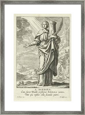 Saint Barbara, Theodoor Galle Framed Print by Theodoor Galle