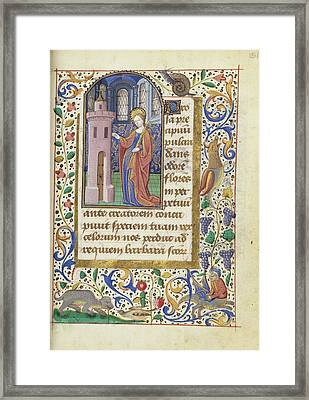 Saint Barbara Unknown Rouen, France, Europe About 1480 - Framed Print by Litz Collection