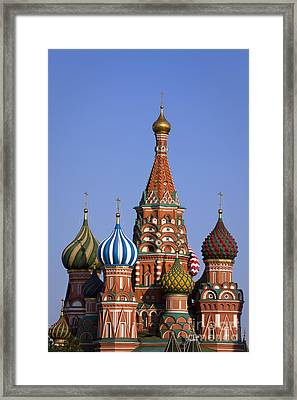 Saint Basil's Cathedral Framed Print by Maurizio Bacciarini