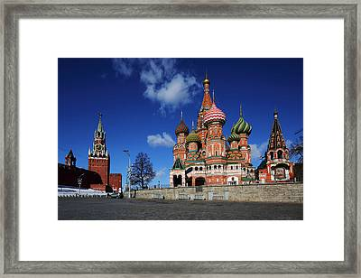Saint Basils Cathedral On The Red Square Framed Print