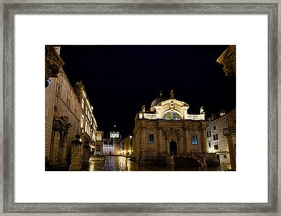 Saint Blaise Church - Dubrovnik Framed Print
