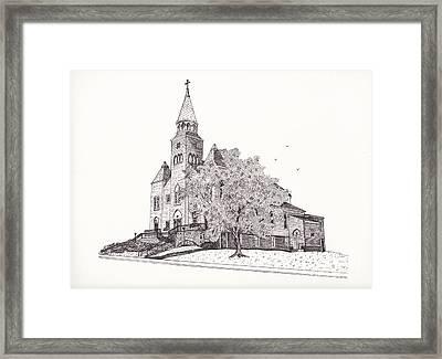 Saint Bridget Church Framed Print by Michelle Welles