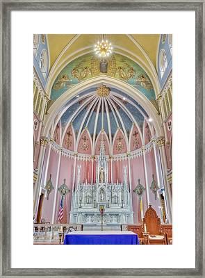 Saint Bridgets Altar Framed Print by Susan Candelario