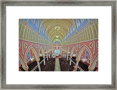 Saint Bridgets Church Framed Print by Susan Candelario