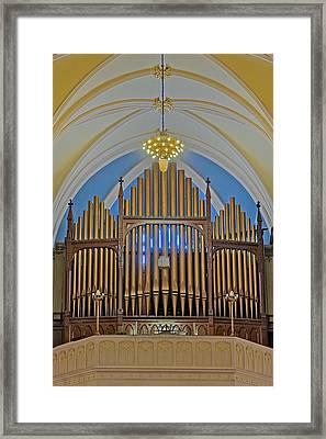 Saint Bridgets Pipe Organ Framed Print by Susan Candelario