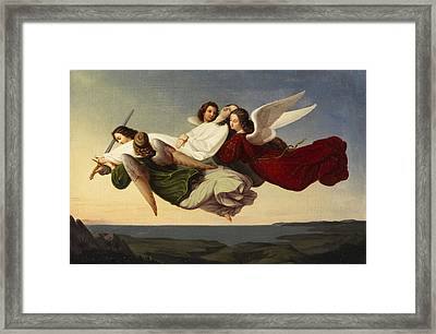 Saint Catherine And Angels Framed Print by Heinrich Mucke
