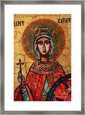 Saint Catherine Of Alexandria  Framed Print by Ryszard Sleczka