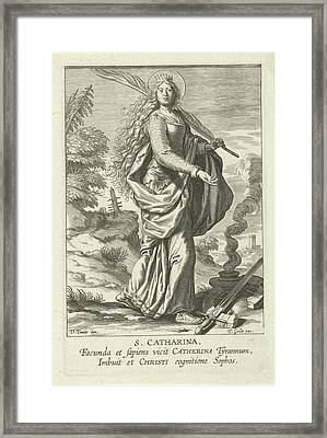 Saint Catherine, Theodoor Galle Framed Print