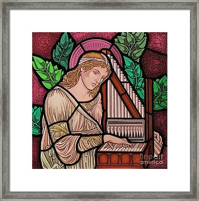 Saint Cecilia Framed Print by Gilroy Stained Glass