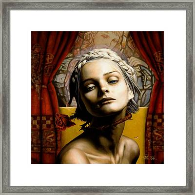 Saint Cecilia Framed Print by Vic Lee