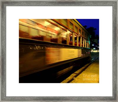 New Orleans Saint Charles Avenue Street Car In  Louisiana #7 Framed Print