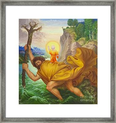 Saint Christopher By Otto Dix Framed Print by Roberto Morgenthaler