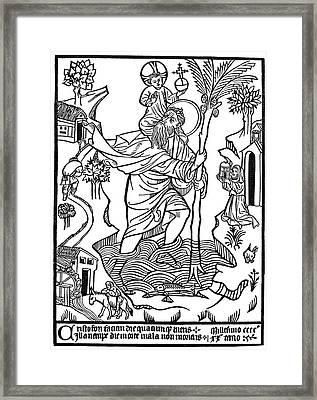 Saint Christopher Framed Print by Granger