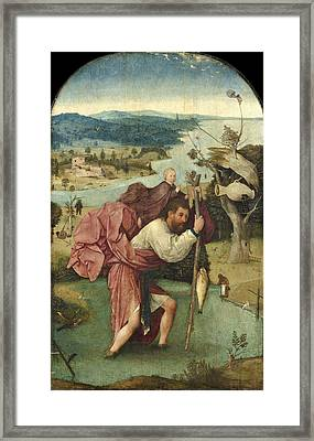 Saint Christopher Framed Print by Hieronymus Bosch