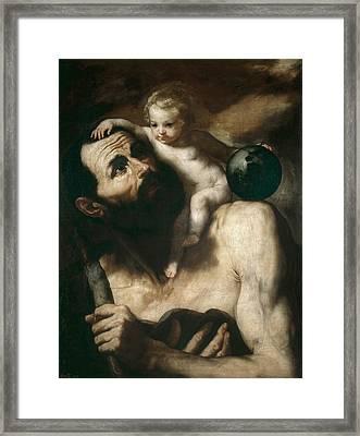 Saint Christopher Framed Print by Jusepe de Ribera