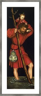 Saint Christopher Framed Print by Lucas Cranach the Elder