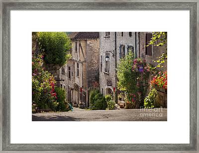 Saint Cirq Street Framed Print