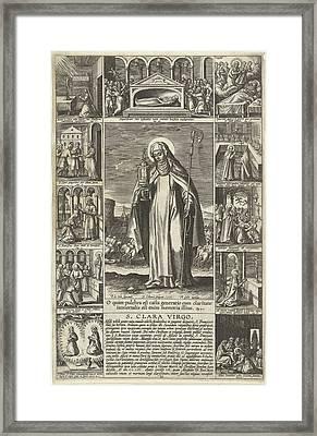 Saint Clare, Adriaen Collaert, Theodoor Galle Framed Print by Adriaen Collaert And Theodoor Galle