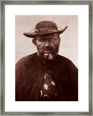 Saint Damien Framed Print by James Temple
