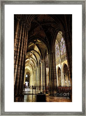 Saint Denis Cathedral Framed Print by Olivier Le Queinec