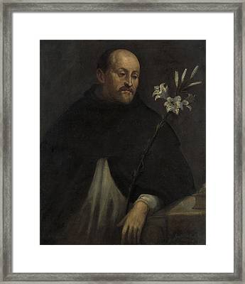 Saint Dominic, Anonymous Framed Print by Litz Collection