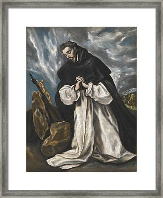 Saint Dominic In Prayer Framed Print by El Greco