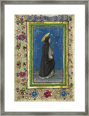 Saint Dominic Taddeo Crivelli, Italian, Died About 1479 Framed Print by Litz Collection