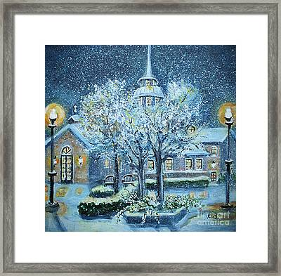 Saint Dominic Chapel Providence College Framed Print by Rita Brown