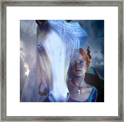 Saint Dymphna Flees Framed Print by Suzanne Silvir