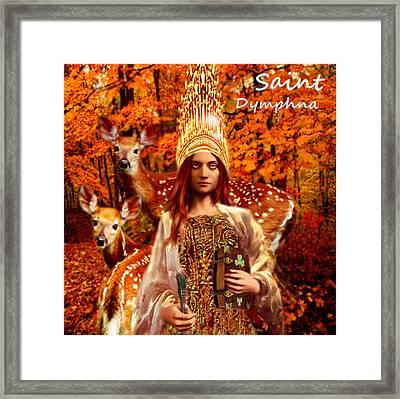 Saint Dymphna Framed Print by Suzanne Silvir
