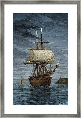 Saint Elmos Fire Framed Print by Science Source