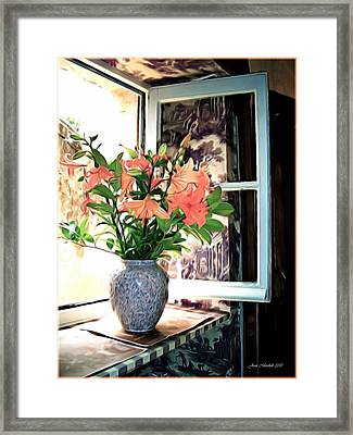 Saint Emilion Window Framed Print by Joan  Minchak
