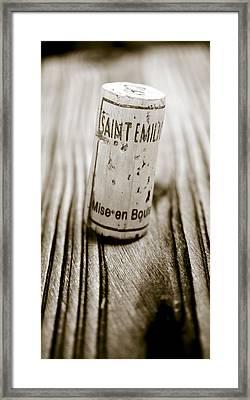 Saint Emilion Wine Framed Print by Frank Tschakert