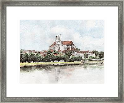 Saint-etienne A Auxerre Framed Print