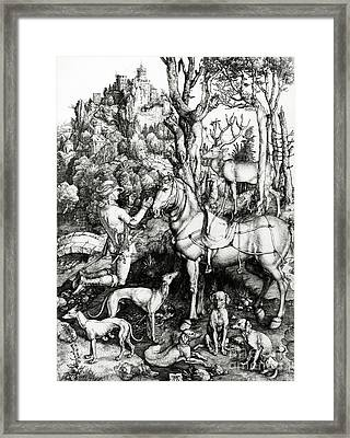 Saint Eustace Framed Print