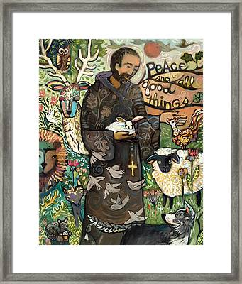 Saint Francis Framed Print by Jen Norton