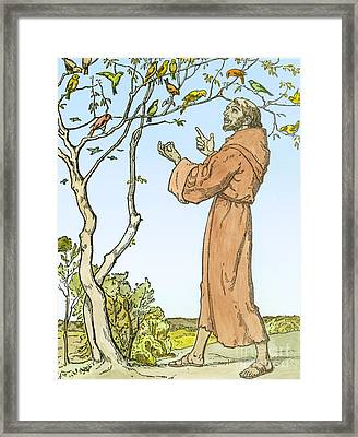 Saint Francis Of Assisi Framed Print by Hellmut Eichrodt