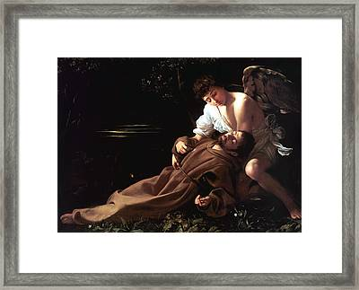 Saint Francis Of Assisi In Ecstasy Framed Print by Caravaggio