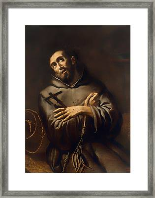 Saint Francis Of Assisi Framed Print by Mountain Dreams