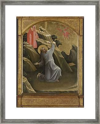 Saint Francis Receiving The Stigmata, Lorenzo Monaco Framed Print