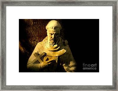 Saint Francis Framed Print by Susanne Van Hulst