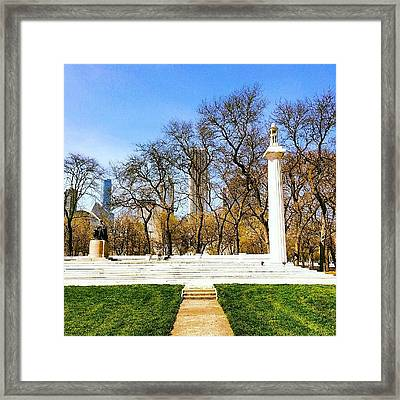 Saint-gaudens Sitting Lincoln Framed Print