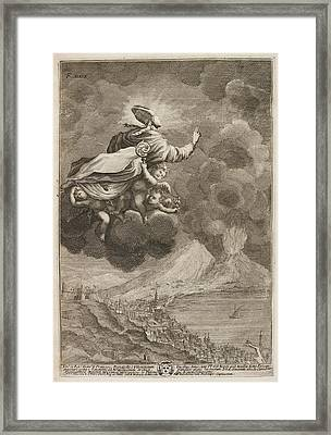 Saint Gennaro Being Carried Up To Heaven Framed Print by British Library