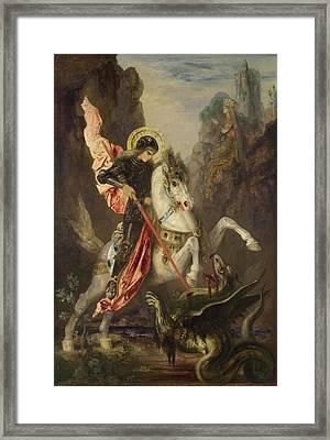 Saint George And The Dragon Framed Print