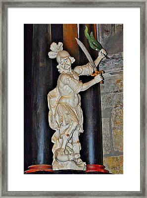 Saint George And The Dragon. The Cathedral Of St. Barbara.  Framed Print by Andy Za